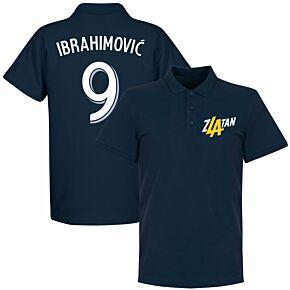 Zlatan Ibrahimovic 9 LA Polo Shirt - Navy