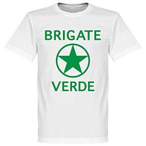 Brigate Verde T-Shirt - White