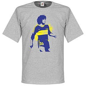 Boca Maradona Tee - Grey