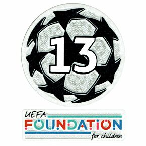 21-22 UCL Starball 13 Times Winner + UEFA Foundation Patch Set
