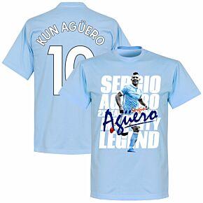 Sergio Aguero 10 Legend Tee - Sky