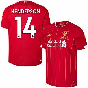 19-20 Liverpool Home P/L Champions Home Shirt + Henderson 14