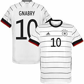 20-21 Germany Home Shirt + Gnabry 10 (Official Printing)