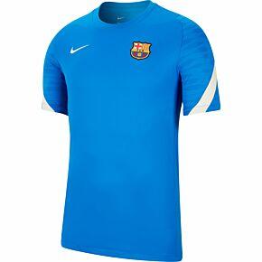 21-22 Barcelona Strike Training Shirt - Blue