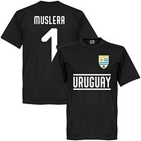 Uruguay Muslera 1 Team Tee - Black