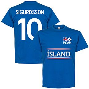 Island Sigurdsson 10 Team Tee - Royal