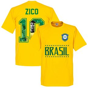 Brazil Zico 10 Gallery Team Tee - Yellow