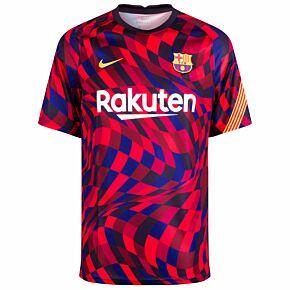 20-21 Barcelona Breathe S/S Top - Red