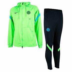 21-22 Inter Milan Champions League Strike Track Suit - Green/Black
