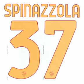 Spinazzola 37 (Official Printing) - 21-22 AS Roma Home