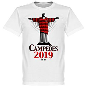 Flamengo 2019 Champions Christ T-Shirt - White