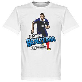 Karim Benzema La Phenoméne Tee - White