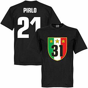 Juventus 31 Campione Pirlo Tee - Black