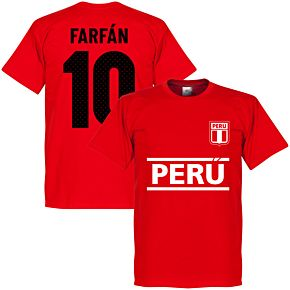 Peru Farfan 10 Team Tee - Red