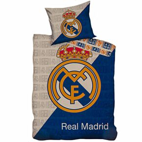 Real Madrid Crest Single Duvet Set - (Reversible)