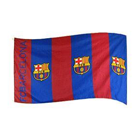 Barcelona Striped Large Flag