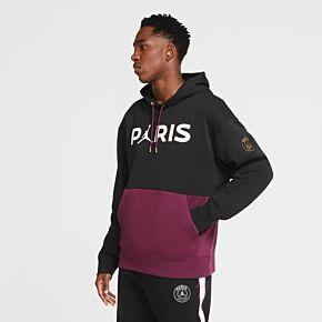 20-21 PSG x Jordan Fleece Hoodie - Black