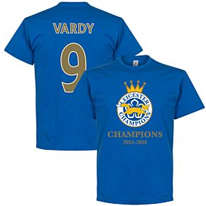 Leicester Champions Vardy Tee - Royal
