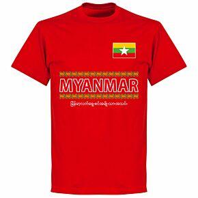 Myanmar Team T-shirt - Red