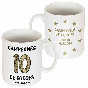 Madrid Campeones 10 D'Europa Coffee Mug