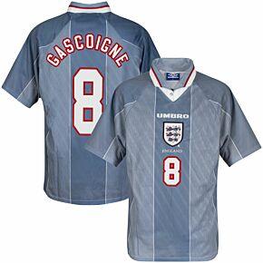 Umbro England 1996-1997 Away Shirt NEW (w/tags) Condition (Excellent) - Size XL - Gascoigne no 8