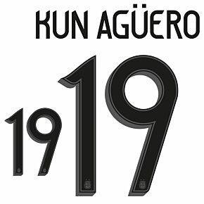 Kun Agüero 9 (Official Printing) - 21-22 Argentina Home