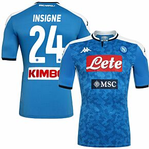 19-20 Napoli Home Authentic Shirt (Skin Fit) + Insigne 24 (Fan Style)