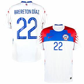 20-21 Chile Away Shirt + Brereton Diaz 22 (Fan Style Printing)