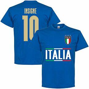 Italy Insigne 10 Team KIDS T-shirt - Royal Blue
