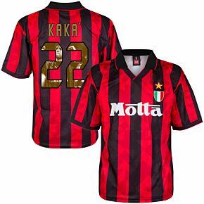 1994 AC Milan Home Retro Shirt + Kaka 22 (Gallery Style Printing)