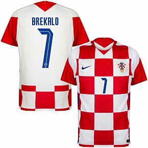 20-21 Croatia Home Shirt + Brekalo 7 (Official Printing)