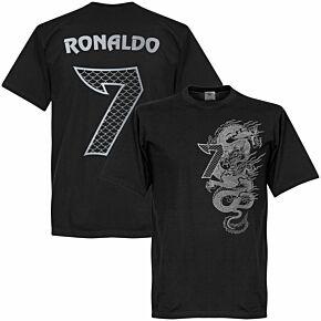 Ronaldo 7 Dragon Tee - Black/Silver