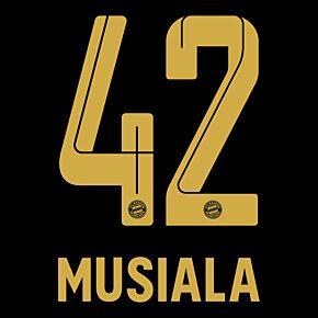 Musiala 42 (Official Printing) - 21-22 Bayern Munich Away