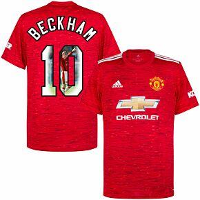 20-21 Man Utd Home Shirt + Beckham 10 (98 Gallery Style)
