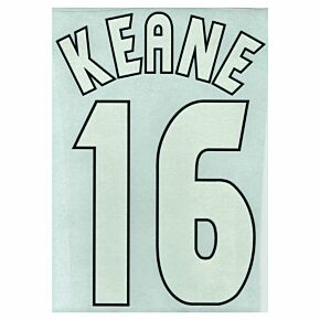 Keane 16 - 98-99 Home C/L Style 1 Star Flock Name and Number Transfer