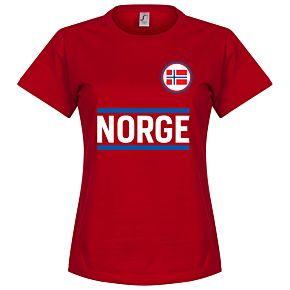 Norway Team Womens Tee - Red