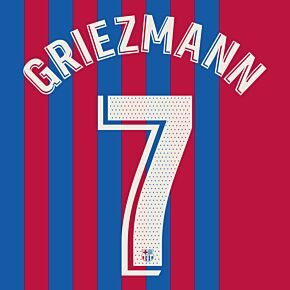 Griezmann 7 (Official Printing) - 21-22 Barcelona Home
