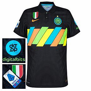 21-22 Inter Milan Dri-Fit ADV Match 3rd Shirt (No Sponsor) + Serie A + Scudetto + Digitalbits