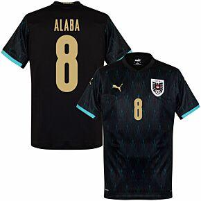20-21 Austria Away Shirt + Alaba 8 (Fan Style Printing)