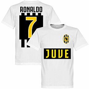Juve Ronaldo 7 KIDS Team Tee - White