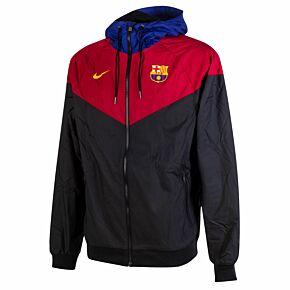 20-21 Barcelona Authentic Windrunner Jacket - Black/Red/Blue