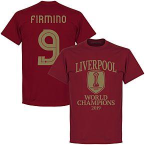 Liverpool World Club Champions 2019 Firmino 9 T-shirt - Chilli Red