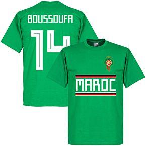 Morocco Boussoufa 14 Team Tee - Green
