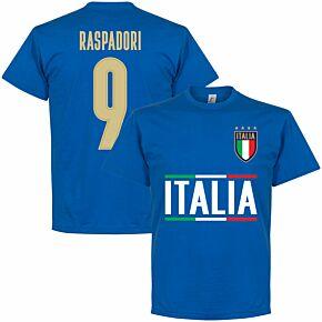 Italy Raspadori 9 Team KIDS T-shirt - Royal Blue