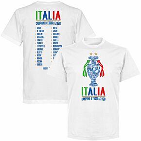 Italia Champions of Europe 2020 Squad T-shirt - White