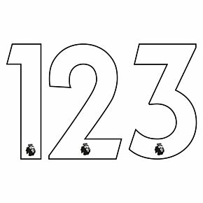 20-21 Premier League Official Adult Player Numbers - White (230mm)