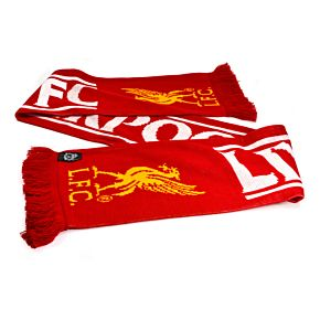 Liverpool Feather Scarf - Red/White