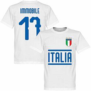 Italy Immobile 17 Team KIDS T-shirt - White
