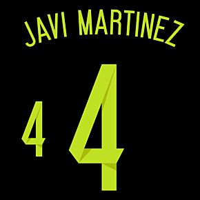 Javi Martinez 4 - Spain Away Official Name & Number 2014 / 2015