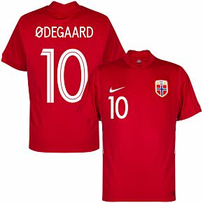 20-21 Norway Home Shirt + Ødegaard 10 (Official Printing)